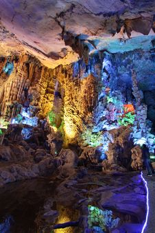 Free Reed Flute Cave Guilin Stock Images - 13676654