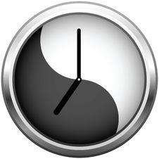 Free Metallic Grey Clock Royalty Free Stock Images - 13676659