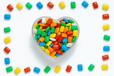 Free Colorful Heart With Frame Royalty Free Stock Photography - 13677347