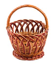 Free Wicker Basket Royalty Free Stock Image - 13677496