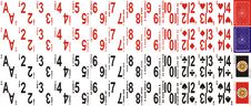 Free Playing Cards With Large Numbers Royalty Free Stock Photo - 13678455