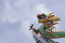 Chinese Dragon With Clean Blue Skies Royalty Free Stock Image