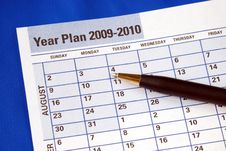 Free Planning The Year On The Day Planner Royalty Free Stock Photo - 13679695