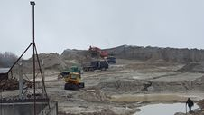 Free Quarry In The Mountains For The Extraction And Processing Stock Images - 136784684