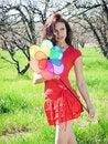 Free Girl In Spring Garden Stock Image - 13680471