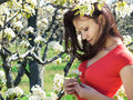 Free Girl In Spring Garden Stock Photography - 13680502