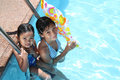 Free Friends At The Swimming Pool Stock Photography - 13684472