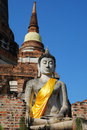 Free Old Pagoda And Big Buddha Stock Photography - 13689042