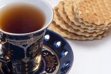 Free Close-up Of  Teacup And Cookies Stock Images - 13680034