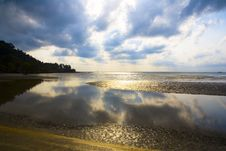 Free Clouds Reflected On The Sea Royalty Free Stock Photo - 13680345
