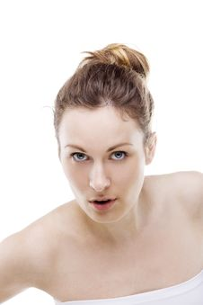 Girl Looks At You Stock Photography
