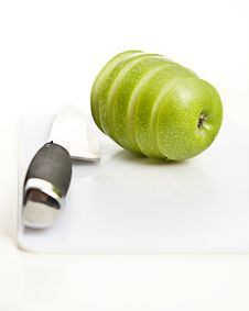 Apple Sliced Stock Photography