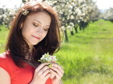 Free Girl In Spring Garden Stock Photography - 13680482