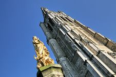 The Cathedral At Ypres Royalty Free Stock Photos