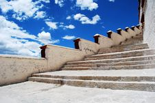 The Stairs To The Potala Palace Stock Image