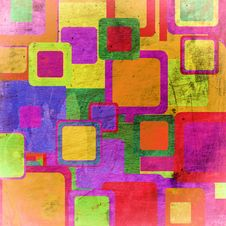 Squares On The Grunge Royalty Free Stock Photography