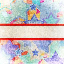 Stars On Grunge Background