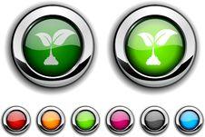 Ecology Button. Stock Photo