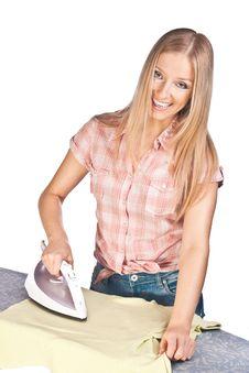 Woman Ironing Royalty Free Stock Photo