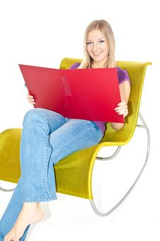 Free Woman On Chair Taking Notes Royalty Free Stock Photography - 13682937