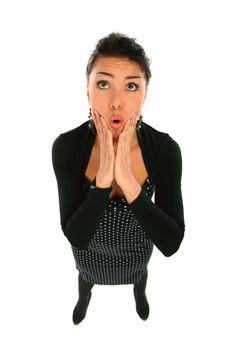 Shocked Girl Isolated Royalty Free Stock Image