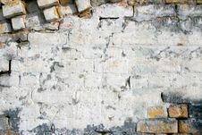 Free Brick Wall Of White Chalk Stock Image - 13684011