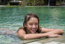 Free Girl Portrait Relaxing In Swimming Pool Royalty Free Stock Photography - 13684147