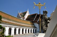 Free Nakhon Pathom, Thailand: Cloister Gallery Royalty Free Stock Photography - 13684177