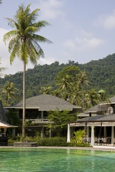Beautiful Tropical Swimming Pool.Thailand. Stock Photos