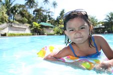 Free Girl At The Pool Royalty Free Stock Photos - 13684478