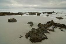 Free Rocky Beach With Dramatic Sky Stock Photo - 13684790