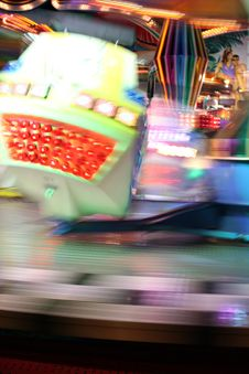 Free Blurred Moving Joy Ride At Carnival Royalty Free Stock Images - 13685009