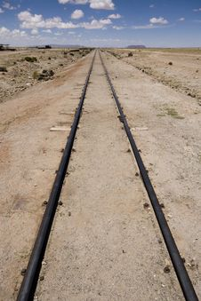Free Rail Tracks In Bolivian Desert Royalty Free Stock Photography - 13685227