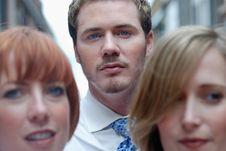 Man With Business Associates Stock Photos