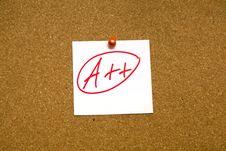 Free A++ Sticky Note Stock Photo - 13685560