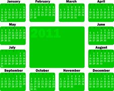 Free Calendar For 2011 Stock Images - 13685894