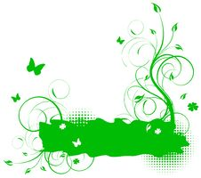 Free Green Floral Background Royalty Free Stock Image - 13685946