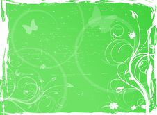 Free Green Floral Background Stock Photo - 13685980