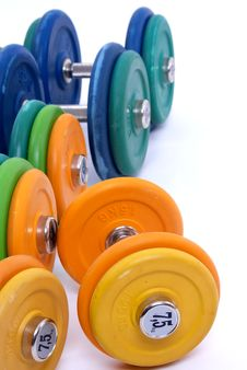 Free Dumbbells Royalty Free Stock Images - 13686229