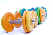 Free Dumbbells Royalty Free Stock Image - 13686246