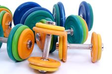 Free Dumbbells Royalty Free Stock Photos - 13686318