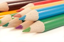 Free Coloured Pencil Selection. Stock Image - 13687421