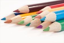Free Coloured Pencil Arrangement. Stock Photography - 13687422
