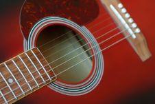 Free Wine Red Guitar Stock Photo - 13687430