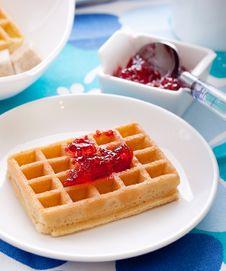 Free Tasty Waffles Royalty Free Stock Photography - 13687467