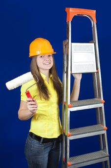 Free Female House Painters Royalty Free Stock Images - 13688119