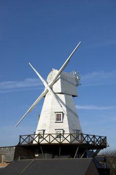 Free Rye Windmill Royalty Free Stock Photography - 13688247