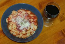 Free Gnocchi With Tomatoes Sauce Stock Image - 13688551