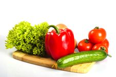 Vegetables In Kitchen Stock Image