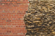 Old And New Wall Royalty Free Stock Photography